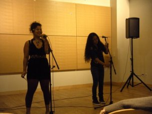 "at Berkeley City College, hosting ""Poetry Crossroads: An Open Mic with Swagga"" alongside my homie Milani Pelley"