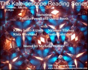 San Francisco, poster for Kaleidescope Reading Series, where I was a featured poet