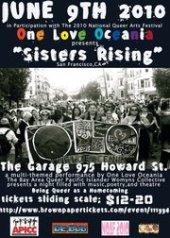 "San Francisco, poster for One Love Oceania (OLO) ""Sisters Rising"" Show"