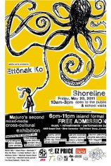 "Marshall Islands, Poster for the Jumbo Arts Show ""Ettonak Ko"" where I displayed art work and performed poetry"
