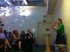"London, Performing at the Poetry Parnassus Festival ""Pacifica Reading"""