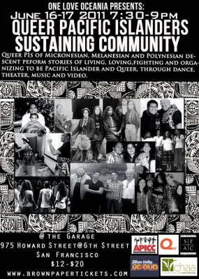 "Poster for One Love Oceania show ""Sustaining Community"""