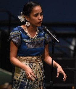 Performing at the United Nations opening of the Climate Summit 2014