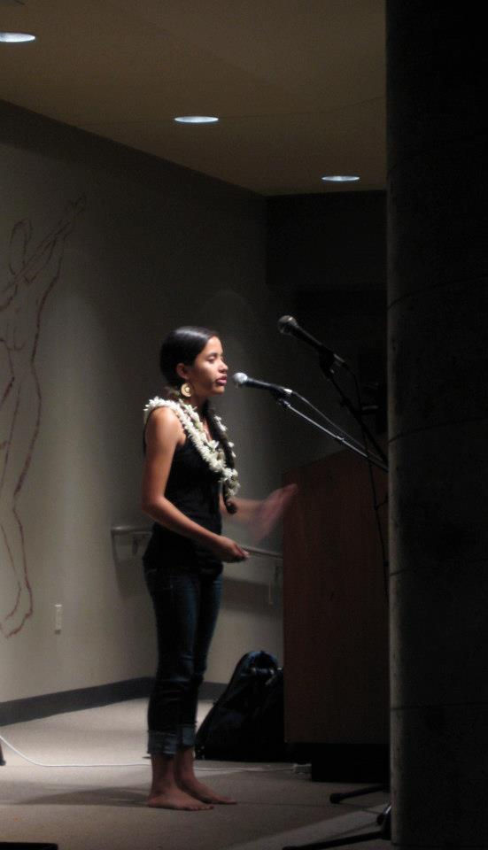 "Performer, ""Fiji. Women. Soldiers. And poetry."" Show featuring the scholar Teresia Teaiwa"