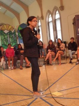 Guest Speaker and Performer, Youth Roots and Justice Retreat