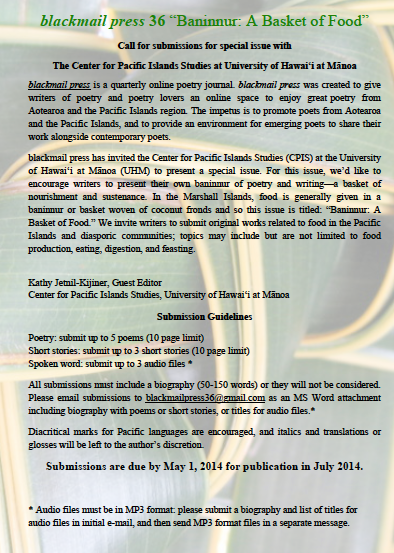 Calling all poets and writers of the Pacific: submit your